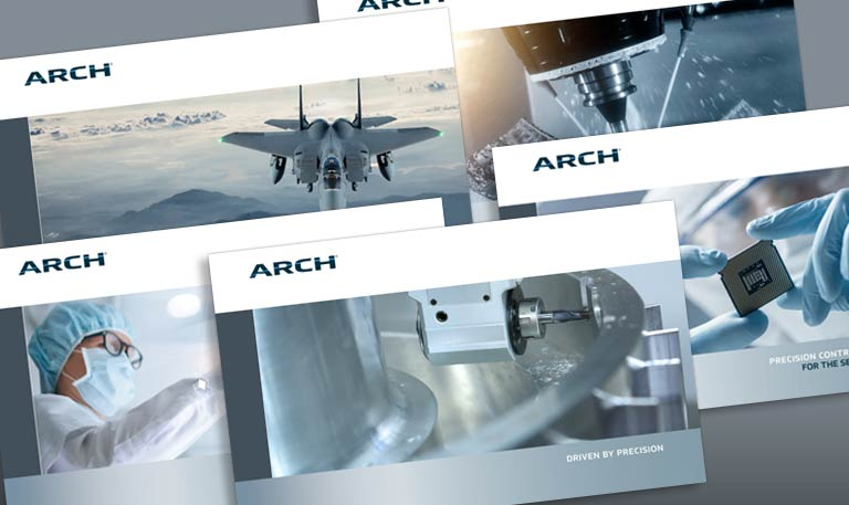 ARCH market brochure covers